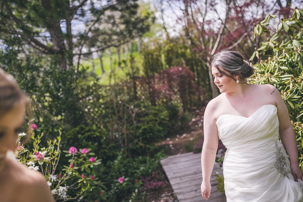 Backyard wedding portraits with a couple in St. John's, Newfoundland