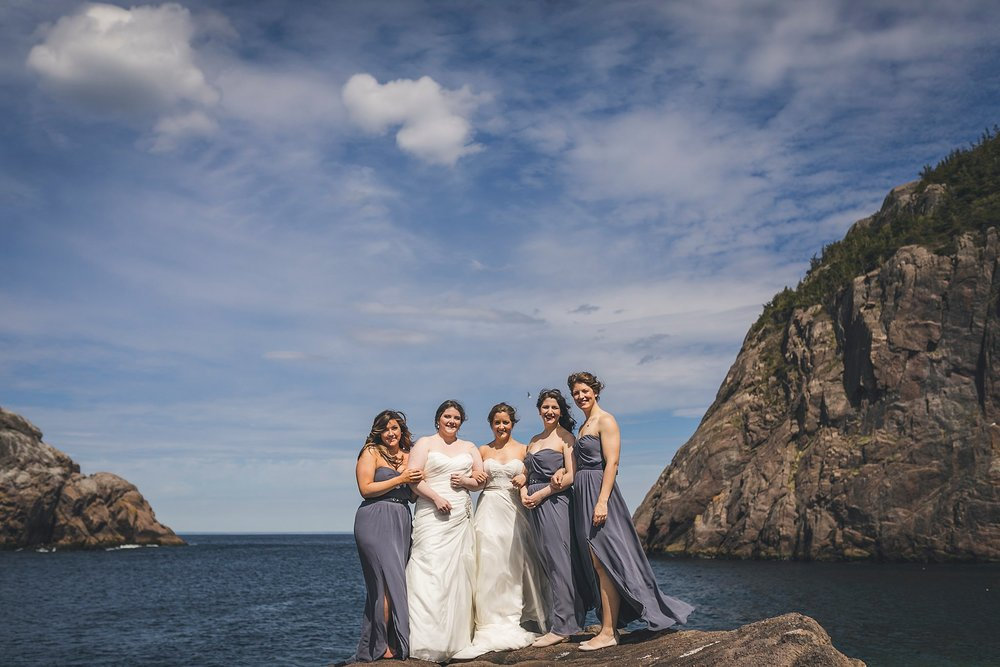 Wedding party photographs in Quidi Vidi - St. John's, Newfoundland