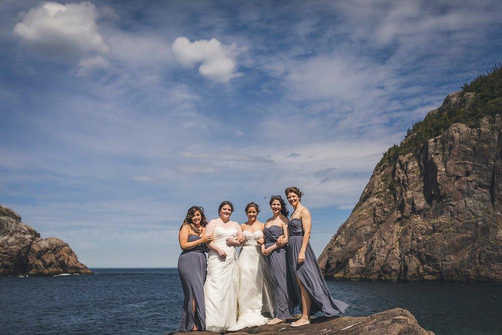 Wedding party photographs in Quidi Vidi - St. John's, Newfoundland