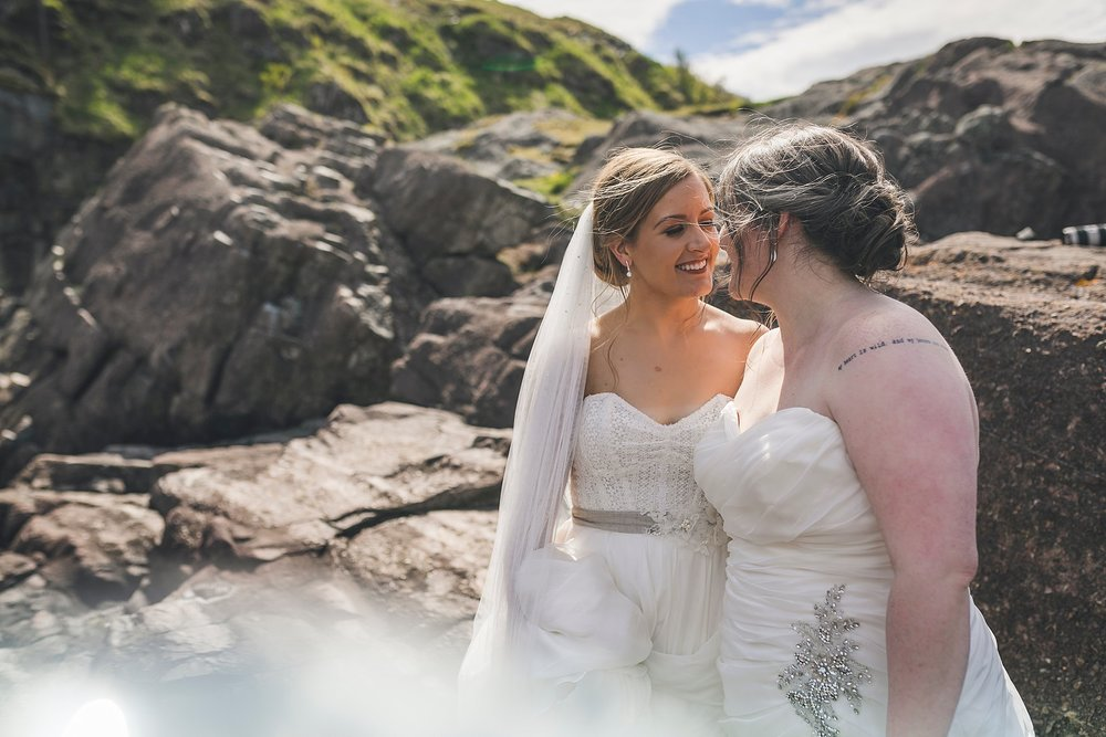 A couple in Quidi Vidi for their wedding photography in St. John's, Newfoundland