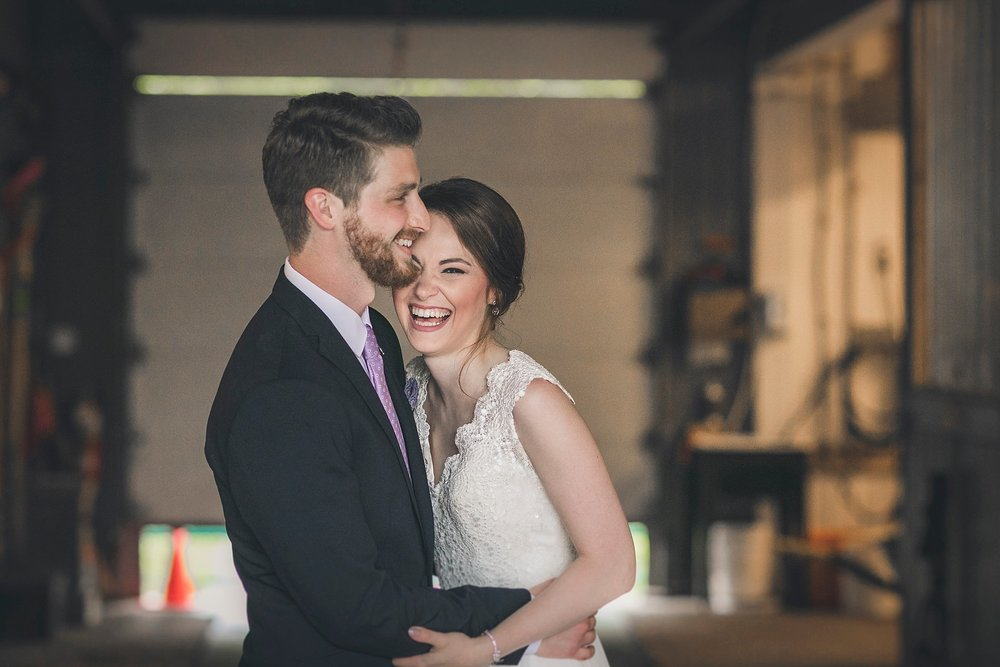 Bride and Groom share a laugh during their Newfoundland Wedding photography