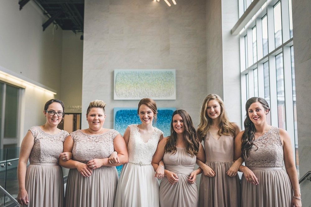 Bridesmaids at a St. John's, Newfoundland Wedding