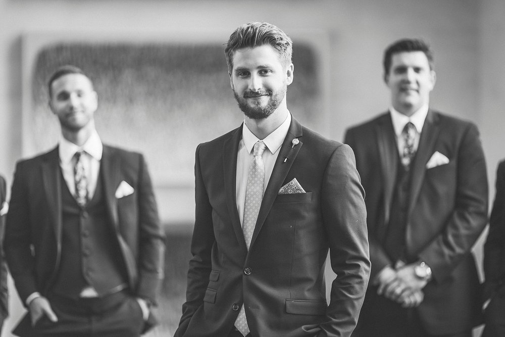 Groom at a St. John's, Newfoundland Wedding