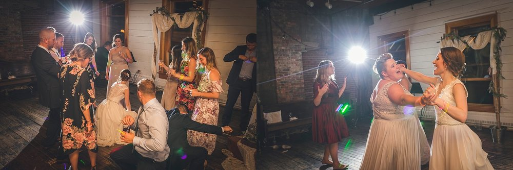 Guests dance at The Rocket Room during their St. John's, Newfoundland wedding