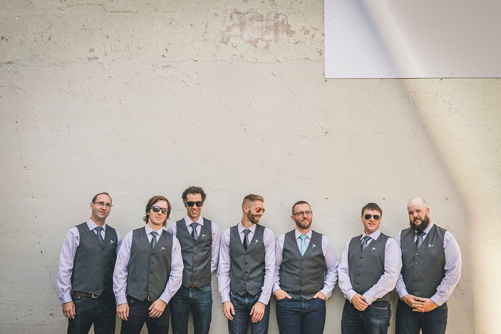 Groom and his groomsmen prior to a St. John's, Newfoundland wedding