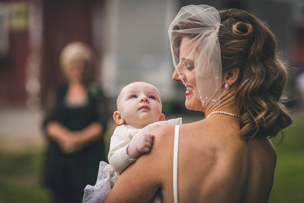 Bride and her daughter at a St. John's, Newfoundland wedding