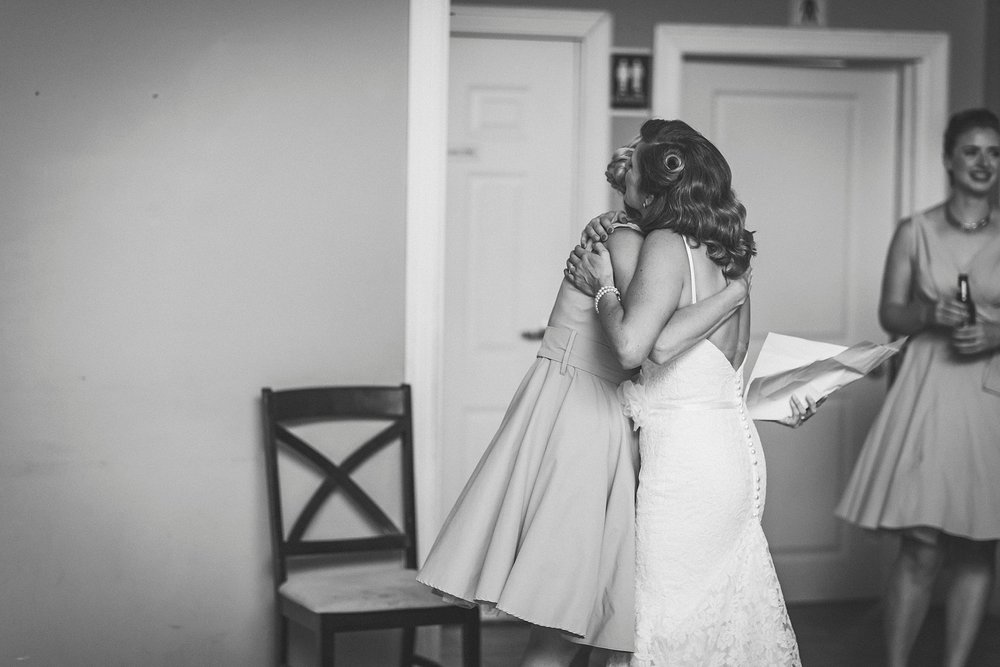 Bride reacts to speeches during their St. John's Newfoundland wedding