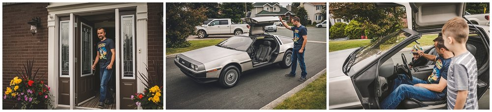 Bride surprises her groom with a Back to the Future DeLorean ride