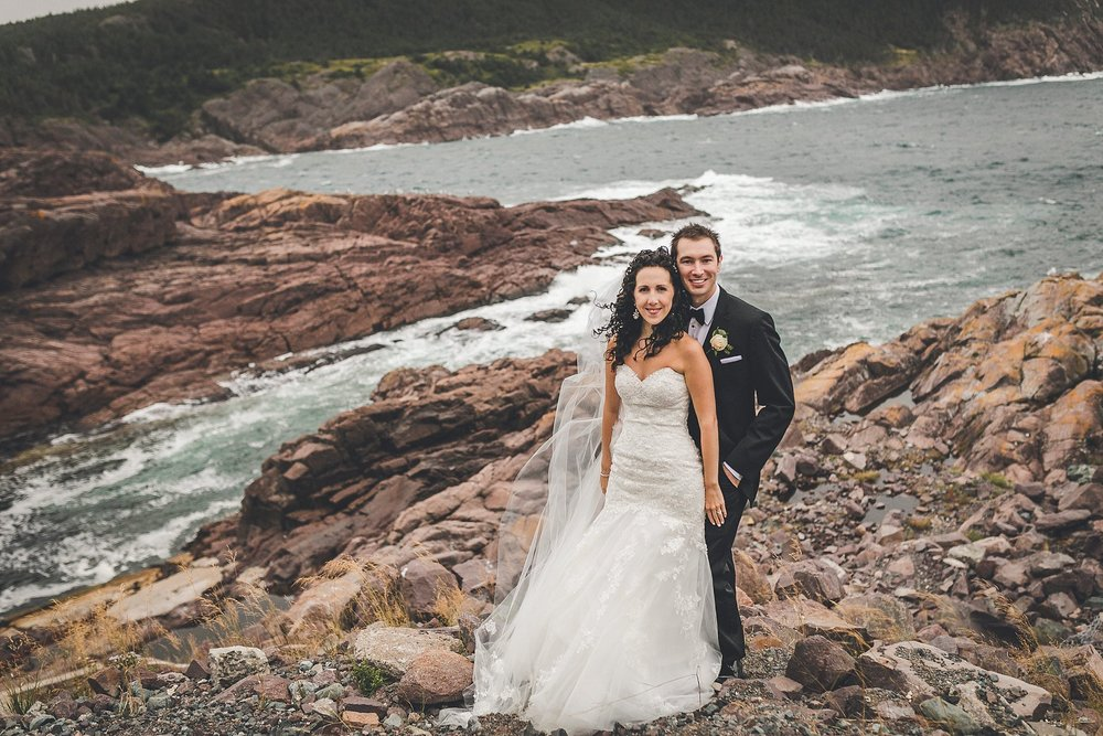 Cliff Side Wedding Photograph