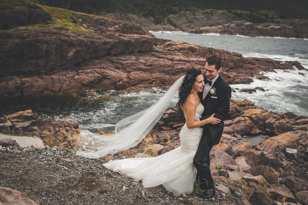 Logy Bay Wedding Couple