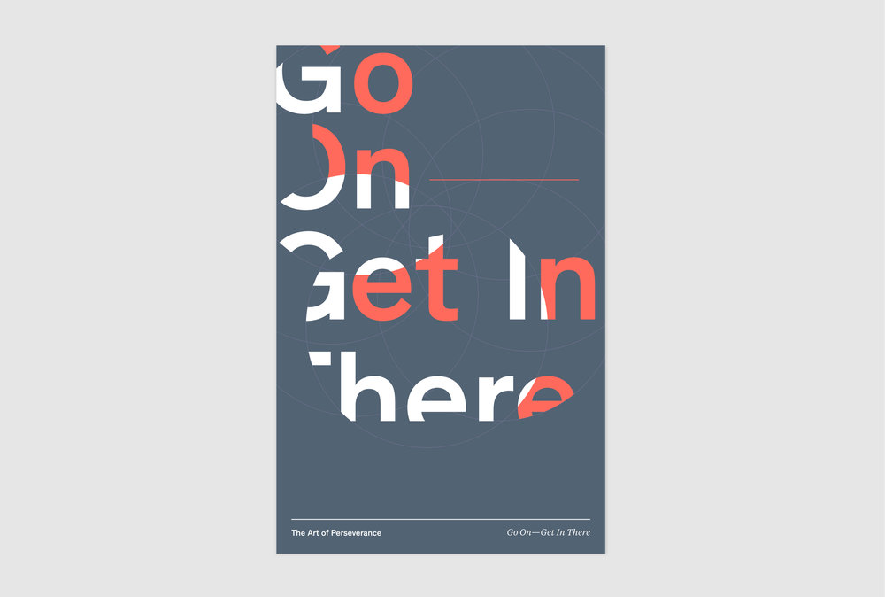 The Art of Perseverance Print Design