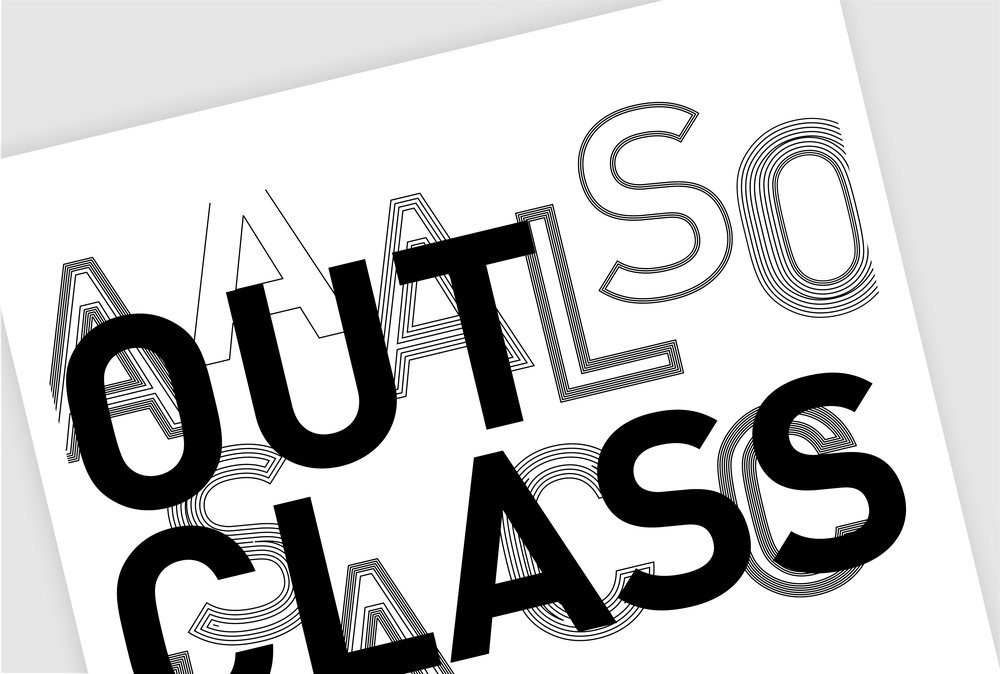 Outclass: The Undergraduate Awards Exhibition Branding / Print Design