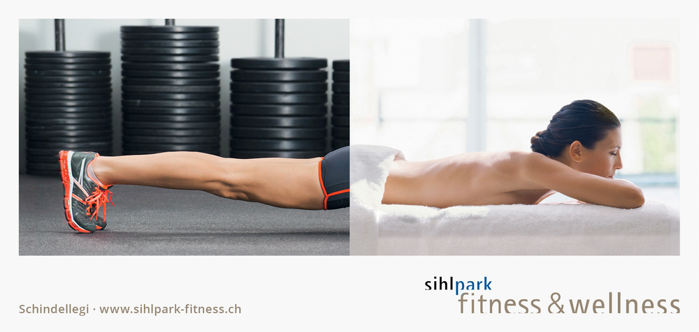 "Poster F12 Sihlpark Fitness & Wellness ""Massage"""