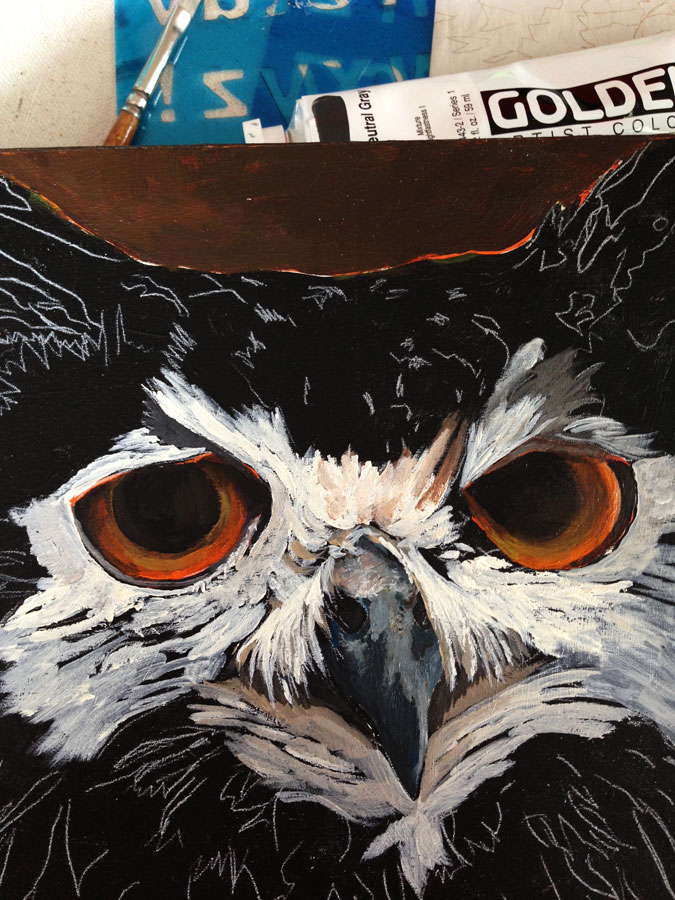 Adding details . . . (the orange eyes were freaking me out : D)