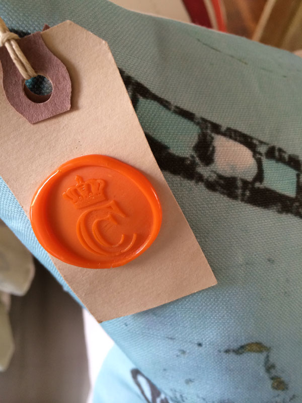 Trying the Wax Seal on Hang Tags