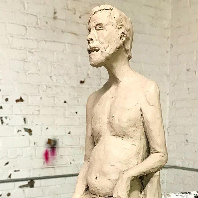 First sculpting session complete  #sculpture_art #sculpture #gcca #clay #claysculpture #art #artandinteriors #angiecarrierart #carriercollective #figurestudy