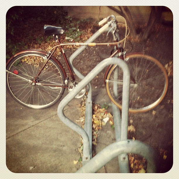 First bike on the rack. (Taken with  Instagram )