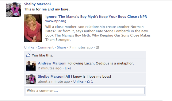 I'm not exactly sure that I should feel this way, but I'm pretty proud of this. (Shelby, of course, is my mother.)