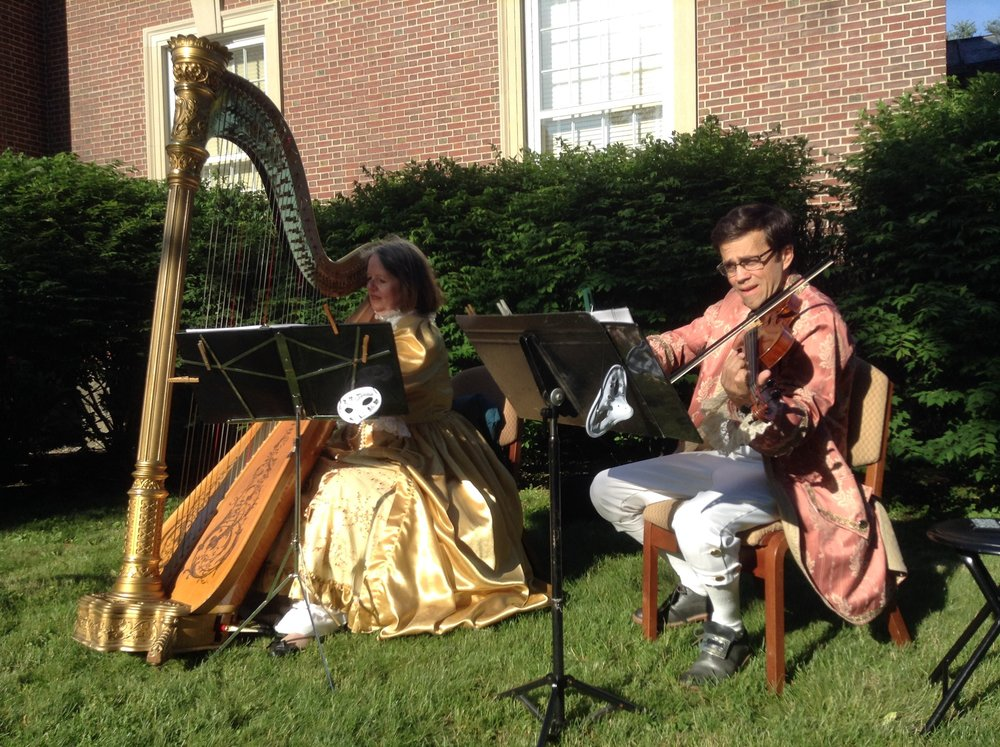 Elizabeth and Josh play for the Saratoga County Arts Council in the state park in 18th century costume.
