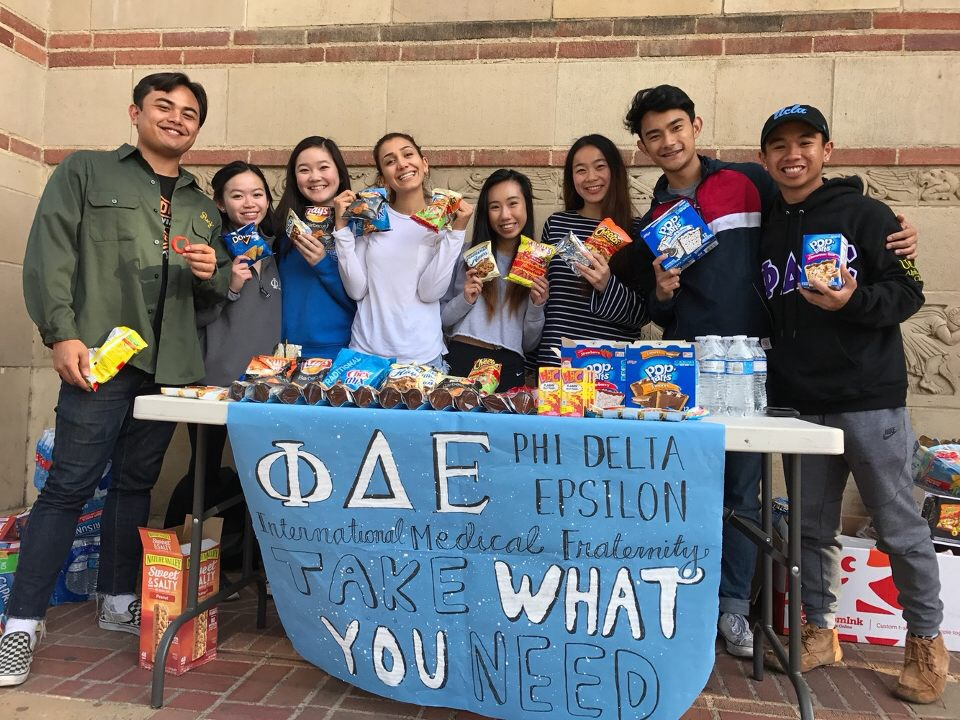 Take What You Need:     In the midst of every midterm season quarterly, we offer free snacks outside of Powell Library to ease some of the exam stress for UCLA students.