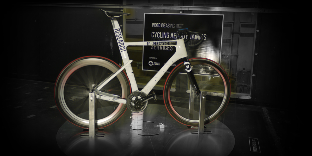 Indeo's test bike, and platform in the wind tunnel