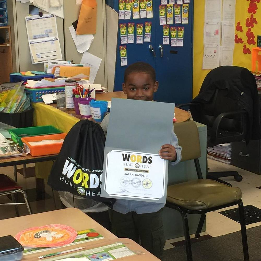 Congrats to Jalani Sanders from Abram Lansing Elementary School in Cohoes for being our #WORDS weekly winner! Great job Jalani!