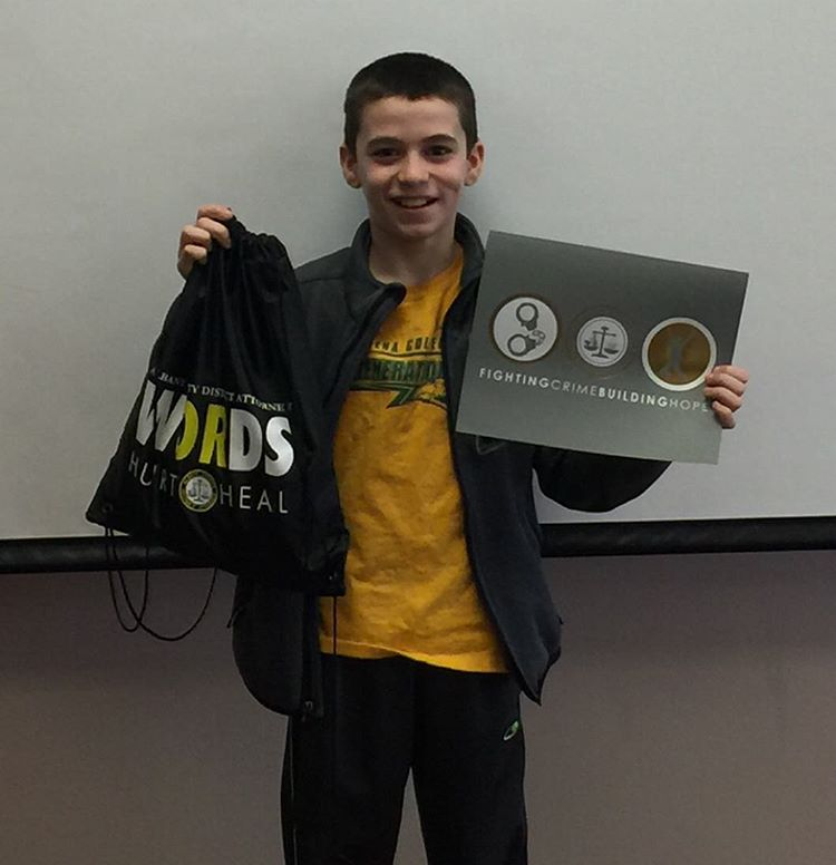 Congrats to Cole of Myers Middle School for being the first #WORDS weekly winner of 2016! Cole tied scarves, hats, and gloves to benches in Washington Park for homeless people to have during the cold weather. Great work Cole! #ActOfKindness #WORDSwednesda