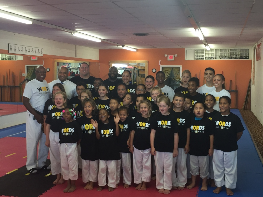 District Attorney David Soares with Shihan Tony Butler and the students of the American Institute of Japanese Karate School in Menands