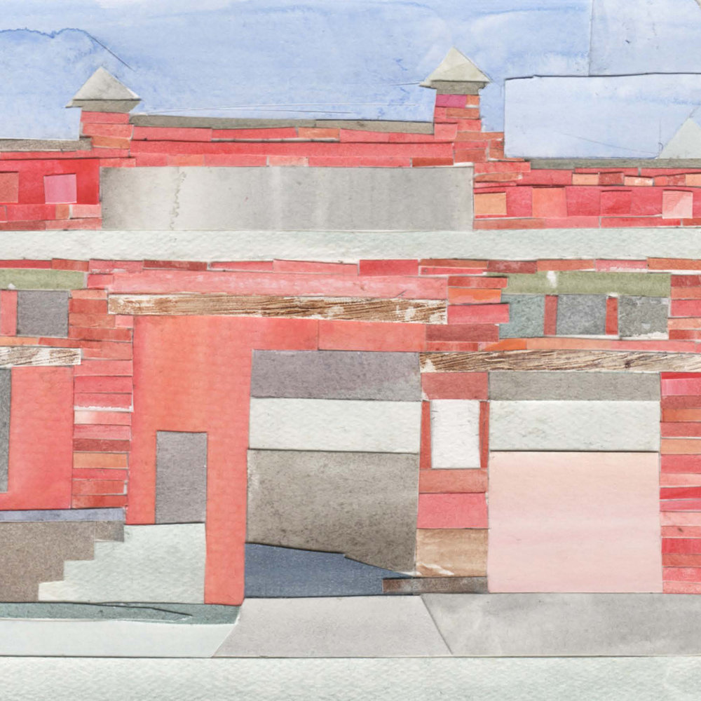 Leftovers: The Last Streetcar Sites, 2018  I have spent the last year working in the archives of the Baltimore Streetcar Museum, seeking out the remaining locations of various sites pertaining to the now obliterated  transit system. These 39 watercolor collages chronicle the only locations that remain today.