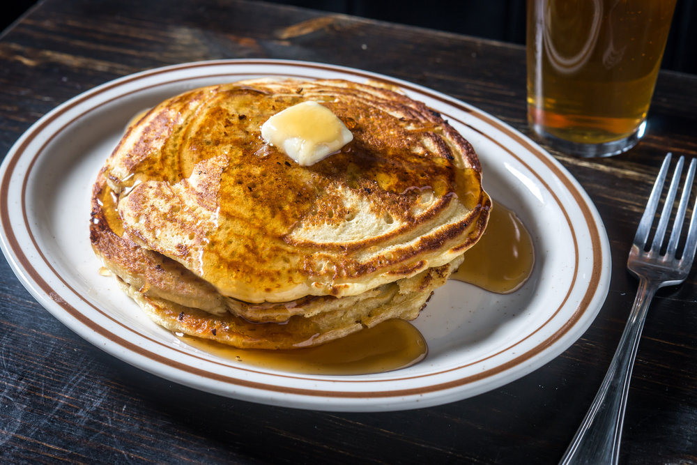 Midnight Pancakes, served starting Midnight. Photo credit Paul Wagtouicz.