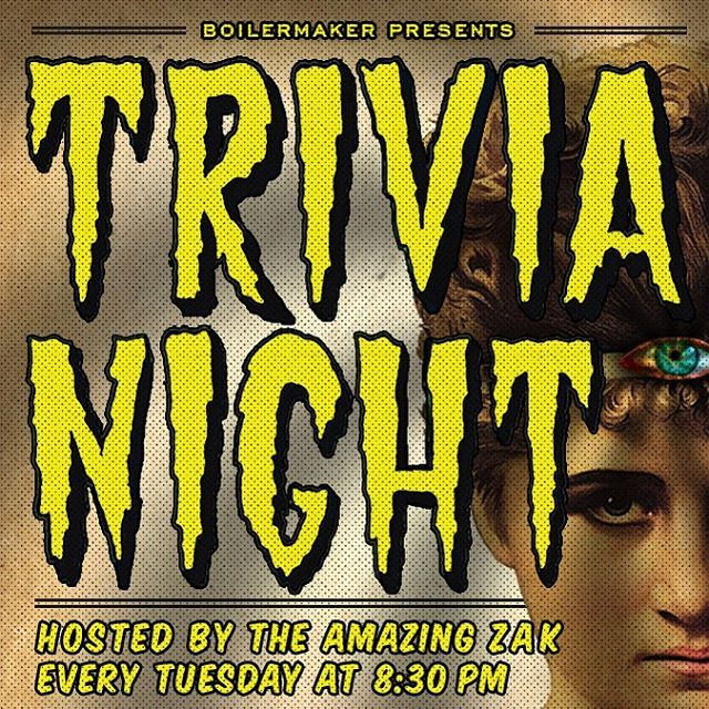 Trivia Tuesday returns tonight!  Come join us at 8:30pm to play for prizes. #firstandthirst