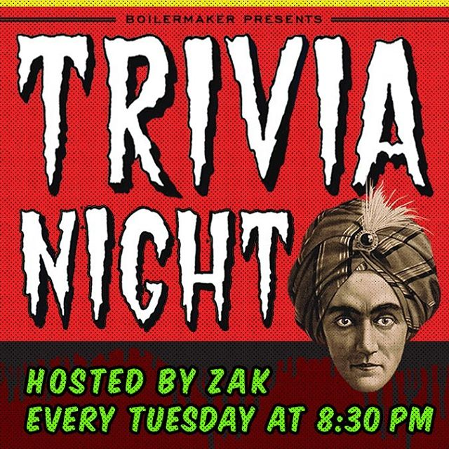 Double header tonight. We got trivia with Zak and we will be showing the Yankee game. #firstandthirst