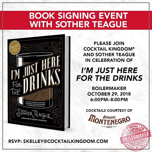 We are thrilled to have this book signing event with Sother Teague at our bar. If you would like to attend please RSVP. #firstandthirst
