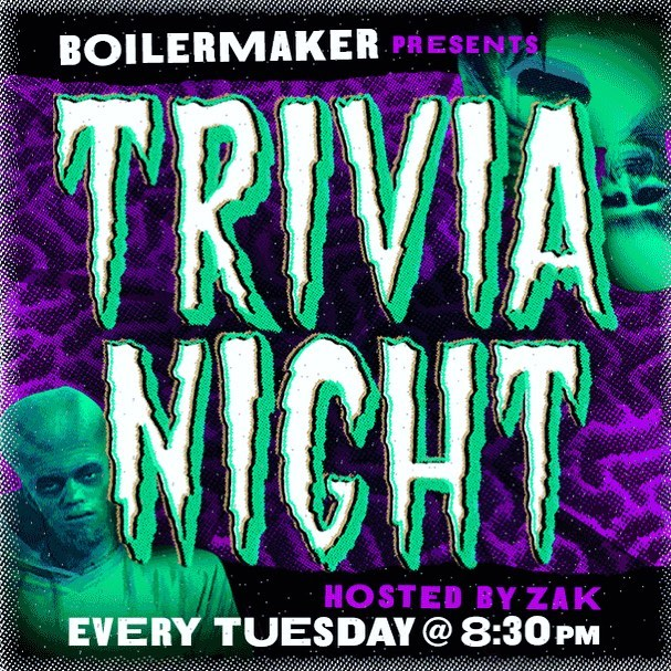 It's Trivia Tuesday! Stop by for some tasty burgers and wings and let us pick your brains! 🍻🍔