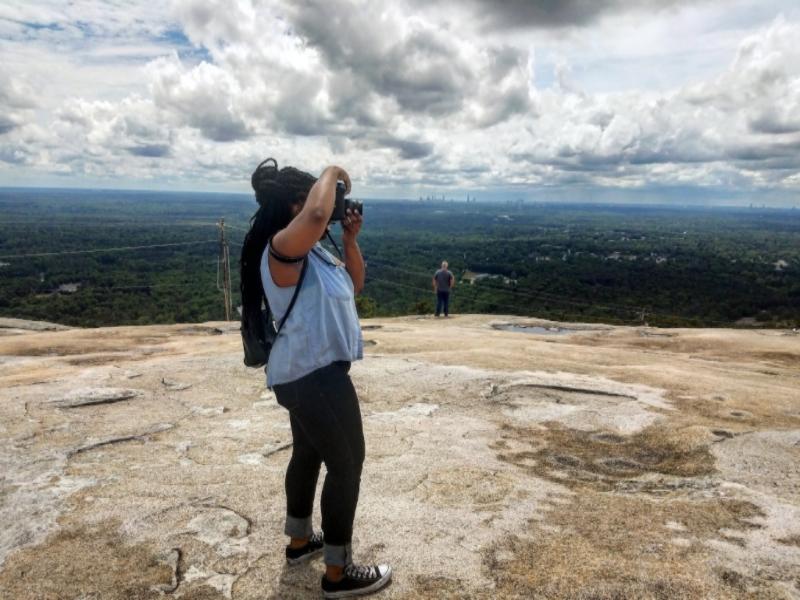 Shooting on Stone Mountain