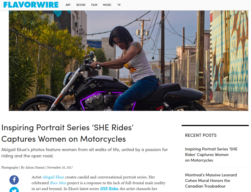 Inspiring Portrait Series 'SHE Rides' Captures Women on Motorcycles – Flavorwire.png