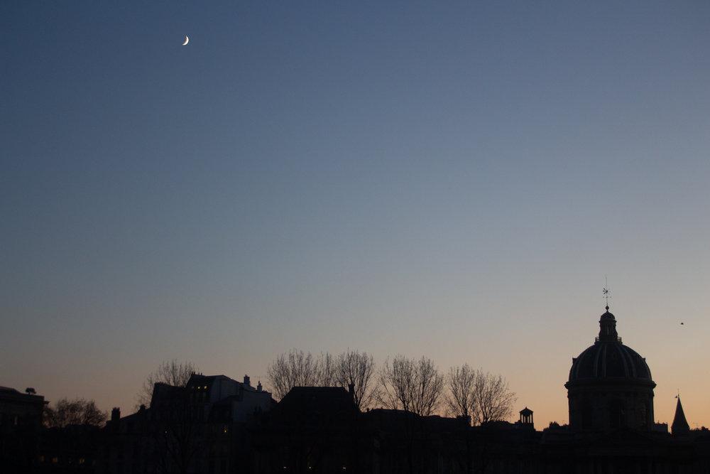 Moon Over Paris, December 2018