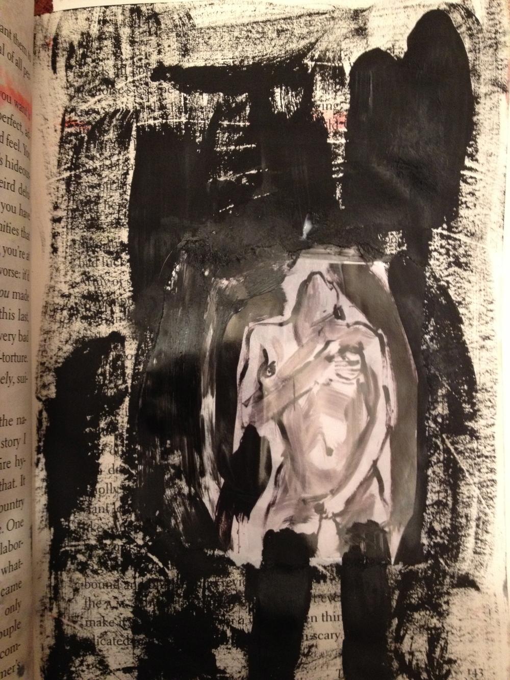 Collage/Acrylic, by Marsha Recknagel