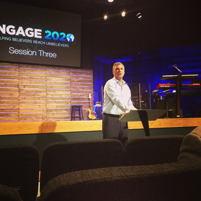 Pastor Rice Broocks discussing evangelism as we celebrate 32 years of sharing the good news. #GCC32