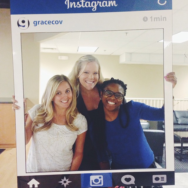 Michele, Brie and Miata, some of our awesome staff team, hanging out today after staff meeting. They think you should follow us on Instagram if you're not already.