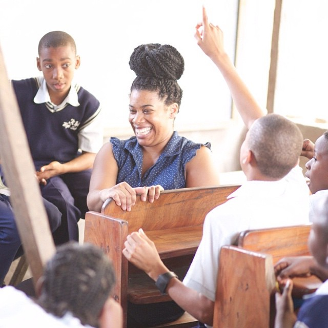 #TBT to this shot from September last year, on our Nigeria mission trip. Team member Sarah Blythe Dixon teaches the God Test to students at a local middle school in Lagos, Nigeria.  Want to go on a missions trip? Click on the link in our profile to see the trips lined up for 2015, and to sign up!
