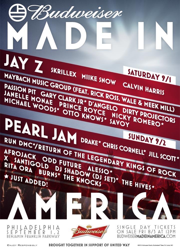 Made In America Festival.