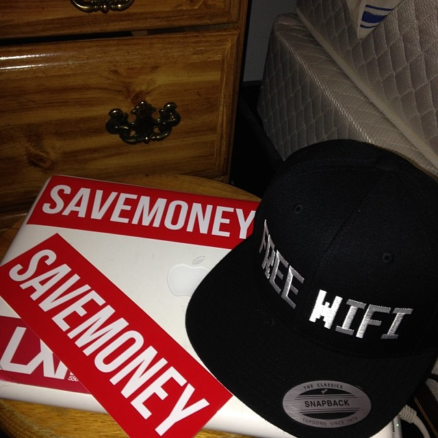Shout out to @vicmensa and the SAVEMONEY pop up shop today