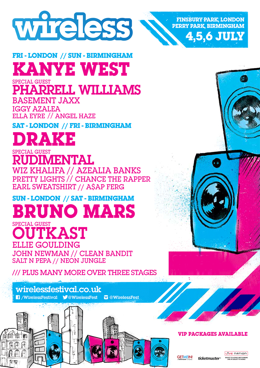 The 2014 UK Wireless Music Festival lineup has been revealed. There are some BIG names this year. Check it out above. Enjoy.   -HB