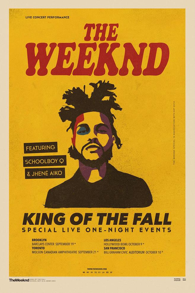 "YO. The Weeknd announced that he will be doing four ""special live one-night events"" with ScHoolboy Q and Jhené Aiko. If you live in Brooklyn, Toronto, LA, or San Francisco, you're in luck. They're coming to you in September and October. Peep the dates above and get tickets  here . Enjoy.   -AO"