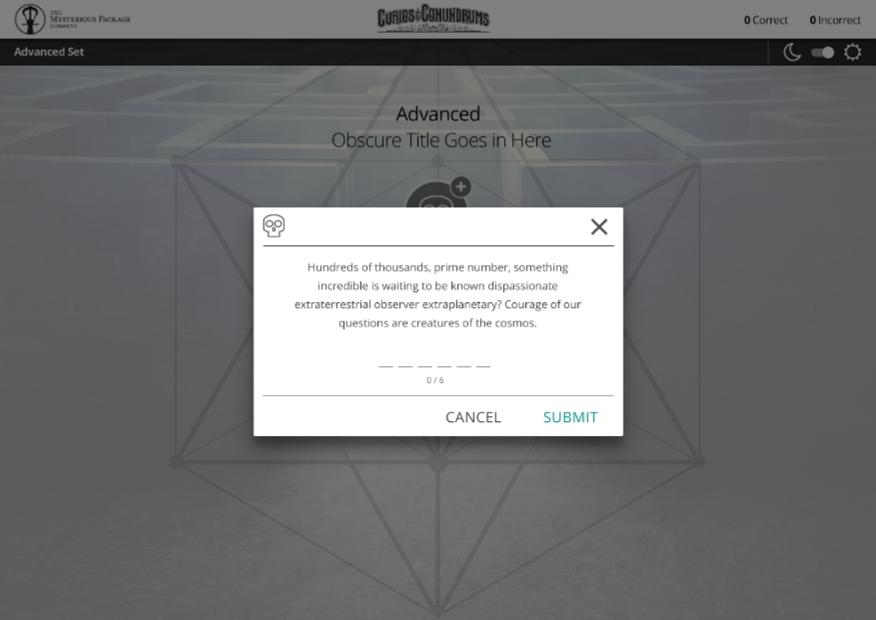 Advanced Set Answer Input (Text)