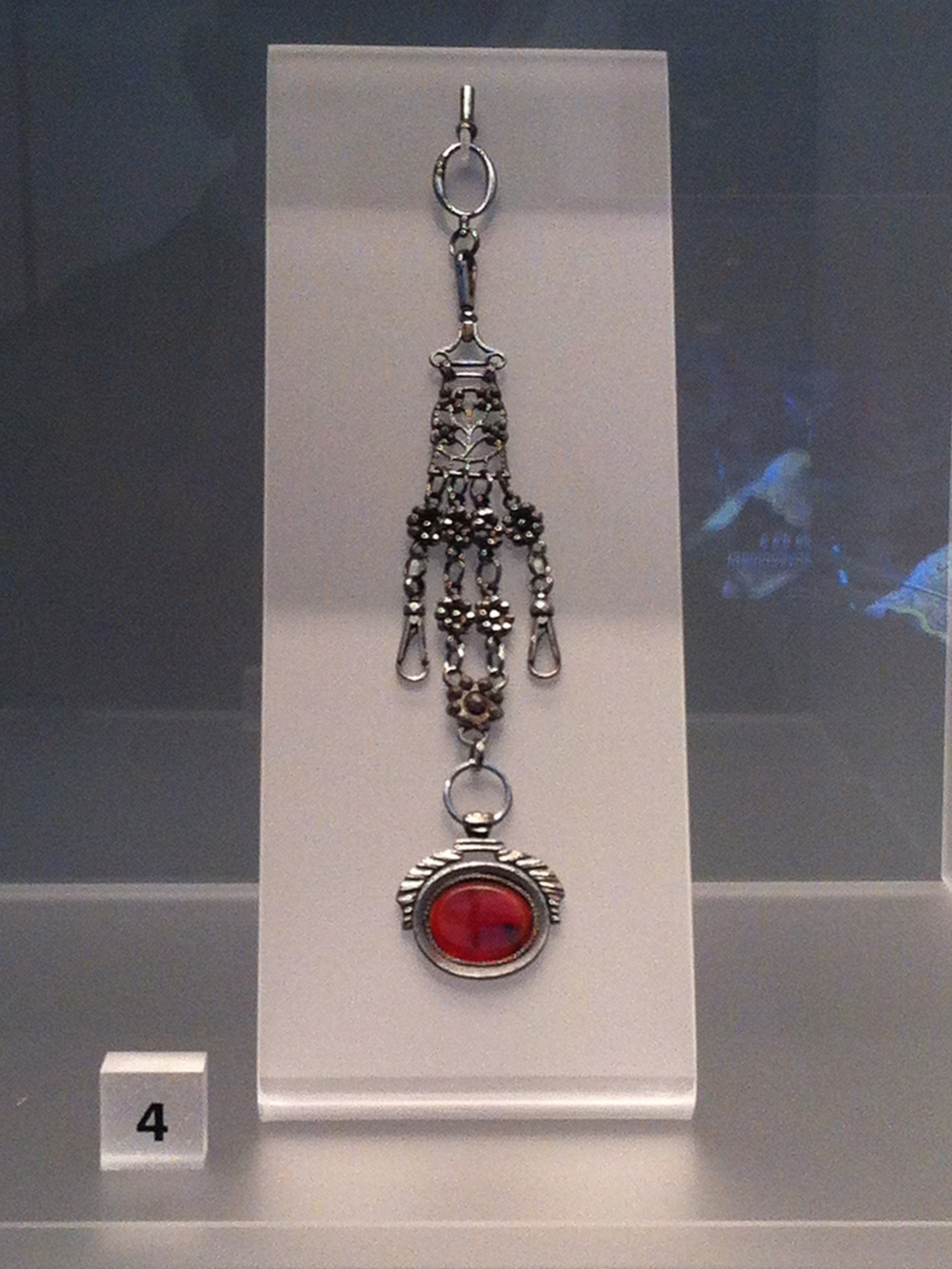 18th Cent. Ladies Steel Chatelaine for holding keys/other household items