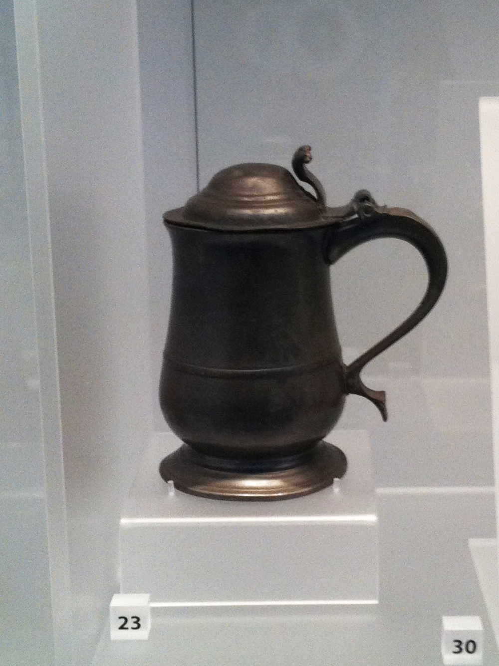 Pewter tankard. Made in the midlands in approx. 1720-40