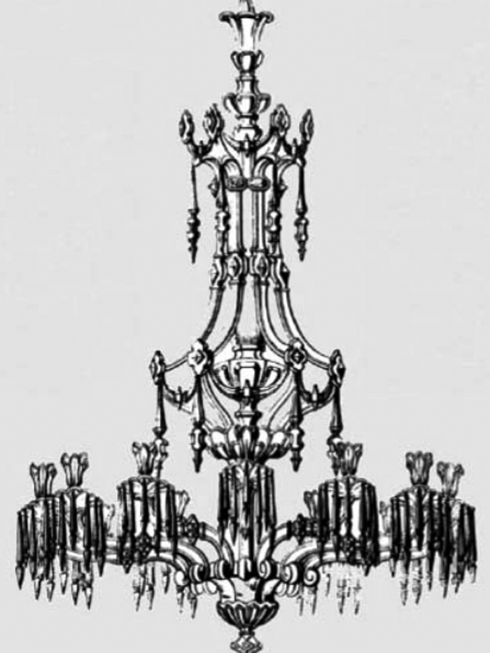 An Osler Chandelier created in 1848 for the pacha of Eygpt