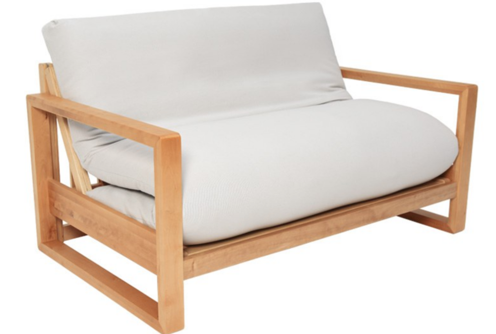 - HAND-CRAFTED, SOLID WOOD, SOFA BED (BLACK)